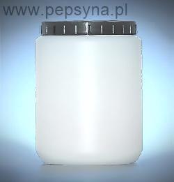 Pojemnik słoik sterylny cylindryczny z wkładką i wiekiem, materiał HDPE poj. 70, 120, 250, 500, 1000 ml